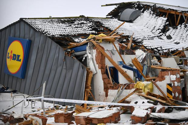 The looted Lidl store. Photo: Reuters