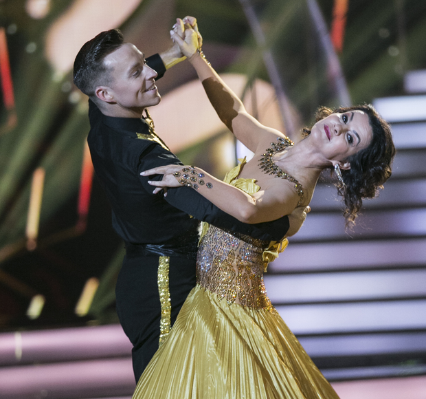 Deirdre O'Kane and partner John Nolan on the dance show