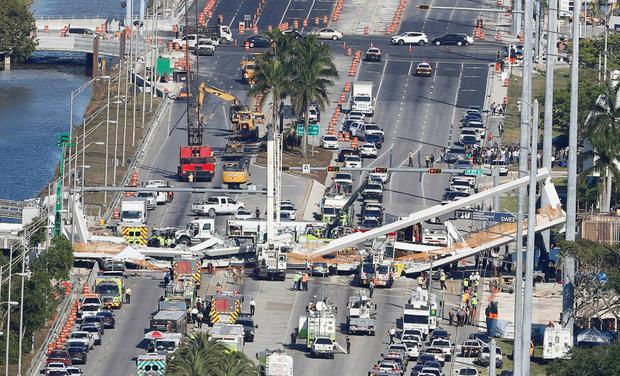 The collapsed bridge in Florida killed six people