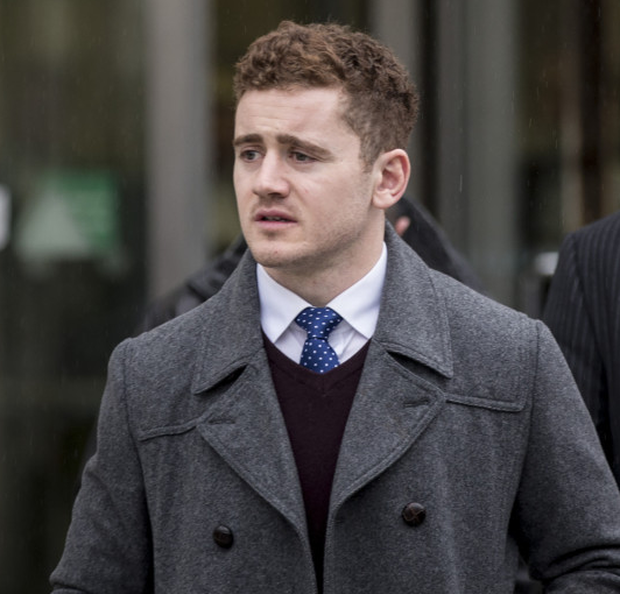 Paddy Jackson leaves court yesterday