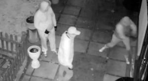 CCTV footage of the thugs, who were armed with hammers and an unknown liquid. Photo: PA