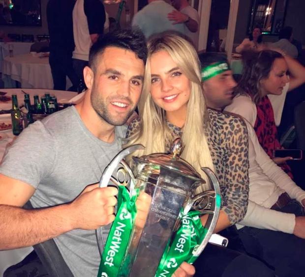 Conor Murray and model Joanna Cooper