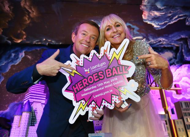 Miriam O'Callaghan and Alan Hughes at the launch of the LauraLynn Heroes Ball. Photo: Frank McGrath/Irish Independent