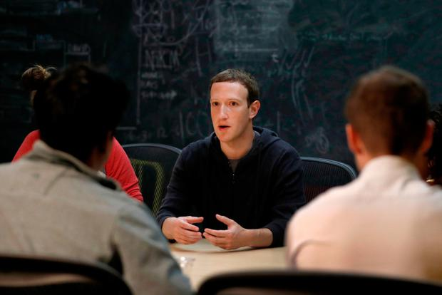 Facebook's Mark Zuckerberg. Photo: AP