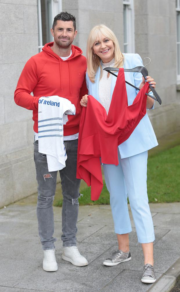 Rob Kearney and Miriam O'Callaghan