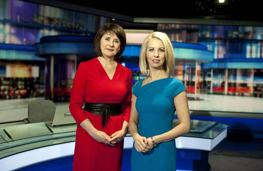 Six One news presenters Keelin Shanley and Caitriona Perry