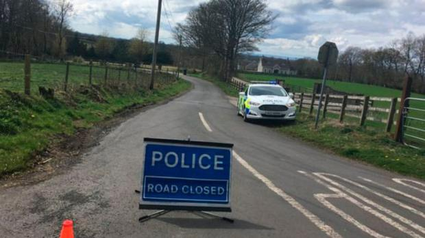 Roads closed near the sight of the plane crash in Belfast