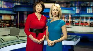 Keelin Shanley and Caitriona Perry present the Six One news. Photo: John C Cooney