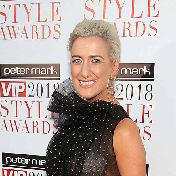 Ciara Doherty looked fantastic in her Catriona Hanly black and gold gown