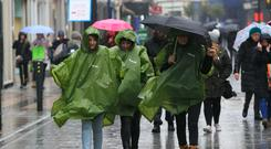 Rain is expected across much of Ireland in the next few days