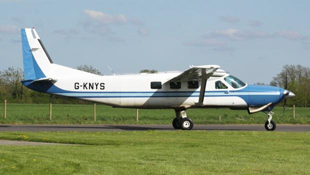 The plane that crashed in Offaly