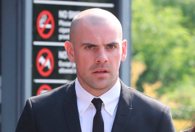 Darron Gibson outside court. Photo: PA