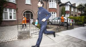Housing minister Eoghan Murphy on the canvass for a Yes vote in Sandymount