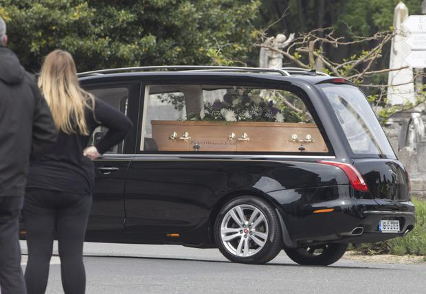 The funeral of Mark Hennessy, who was shot dead by gardai after killing Jastine Valdez