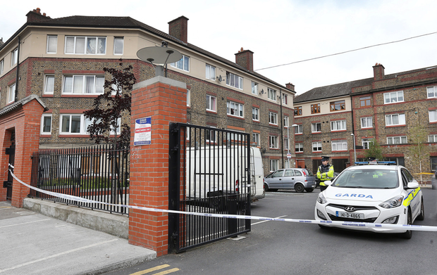 Scene of the shooting at Avondale House flats in 2016