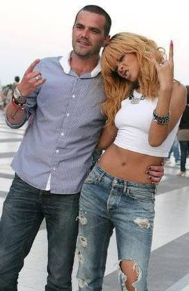 Rihanna with ex-head of security Geoffrey Keating
