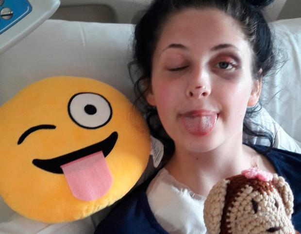Vanessa is recovering in hospital after the incident