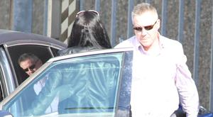Former solicitor Michael Lynn is met by his wife, Brid, as he leaves Cloverhill Prison. Photo: Collins Courts