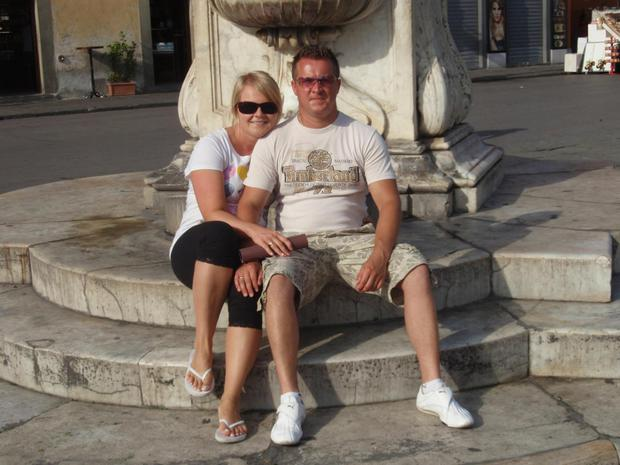 Murder victim Mikolaj Wilk with his wife Elzbieta