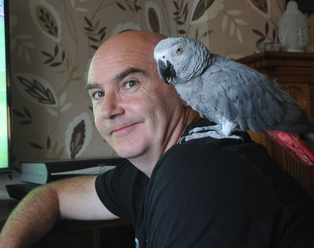 Ray Fitzsimons has been reunited with his beloved parrot Lulu, who he has had since she was a baby