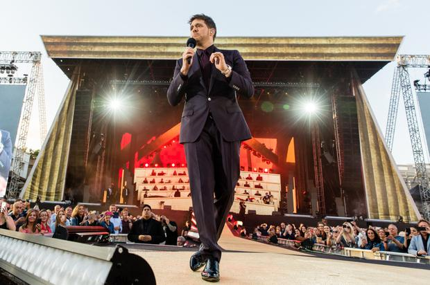 Michael Buble on stage at Croke Park