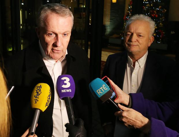 Peter Bellew and Eddie Wilson of Ryanair's management