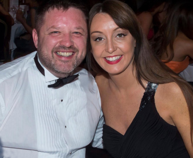 Brian O'Callaghan-Westropp with his wife Zoe Holohan