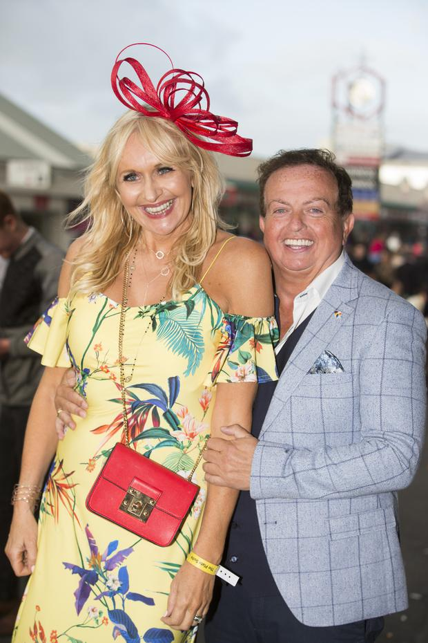 Miriam O'Callaghan with Marty Morrissey in Galway