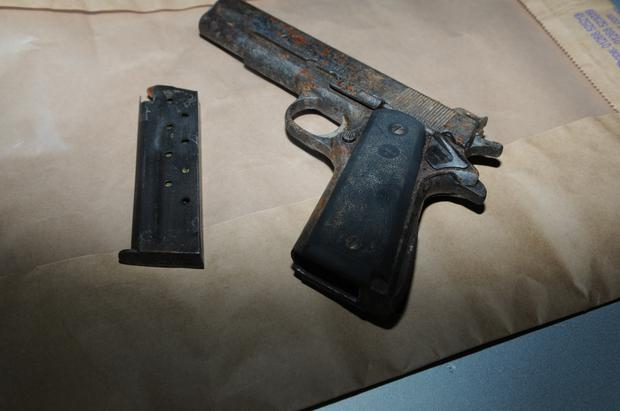 A handgun seized by gardai