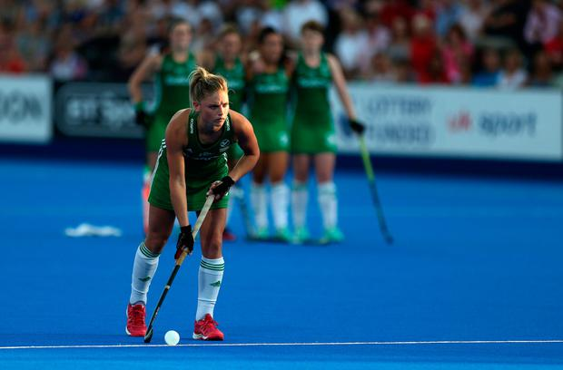 Ireland's Chloe Watkins during the shoot out