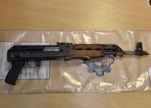 An assault rifle like the one discovered by builders yesterday