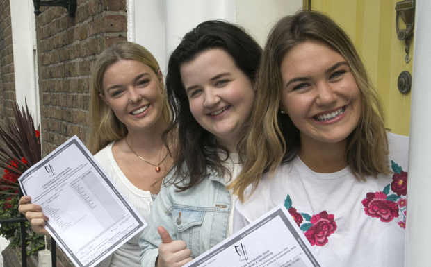 Girls do better than boys in leaving cert thanks to smart approach institute of education students lily farrell niamh corry and lucy mockler with their leaving cert ccuart Gallery