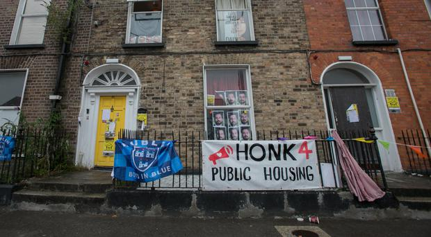 The property in Summerhill Parade, Dublin, which was occupied by a group protesting about homelessness