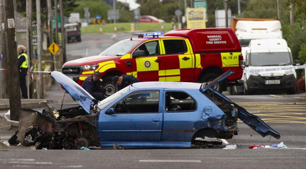 Two people were killed in the crash which happened yesterday in Bundoran, Co Donegal