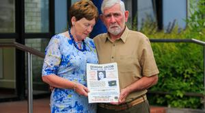 Bernie and Michael Jacob hold a picture of their daughter Deirdre. Photo: Gareth Chaney Collins