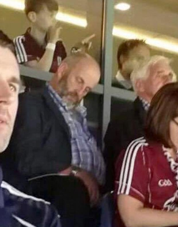 The image of Danny Healy Rae at the hurling final