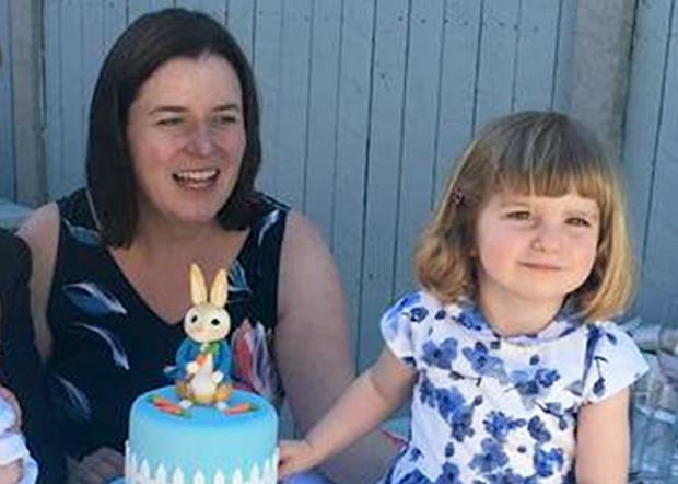 Emer Cannon with her daughter Zoe Whitford (3) who died after an alleged incident at the family's Shankill home