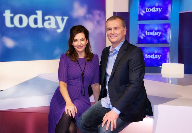 Daithi and Maura on the Today set