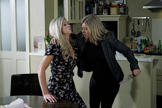 Aoife stabs Kerri-Ann in Fair City