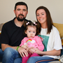 Celine Power and Niall McHugh with daughter Lara. Picture Credit: Frank McGrath