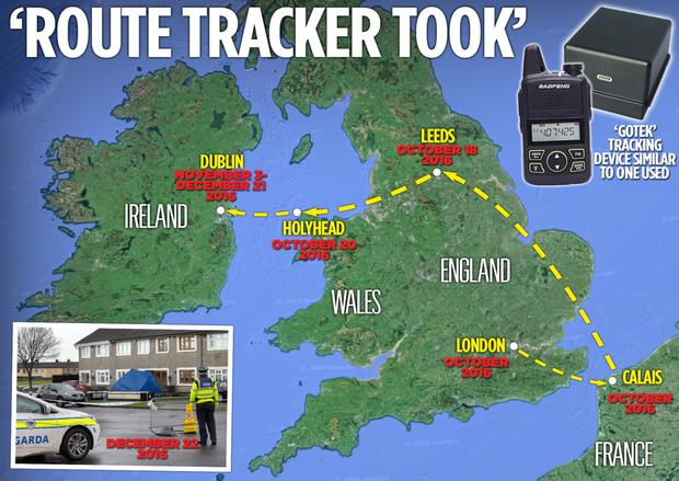 'Route tracker took'