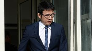 Hospital doctor Fei Tan arriving at court for his hearing