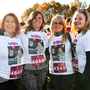 Sharon Strain, Ann Doyle, Sue Ruddel and Rebecca Kelly Ruddel, from Coolock, Co. Dublin, ahead of the Remembrance Run 5K 2018 at the Phoenix Park in Dublin.