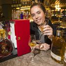 Sorcha O'Connor with the €3000 bottle of cognac