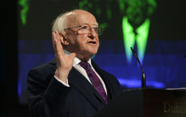 President Michael D Higgins was quizzed during the election. Pic: INM