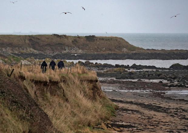 Gardai search the clifftops for clues
