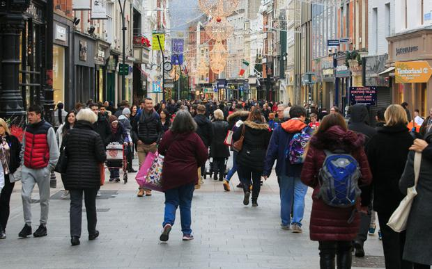 Shoppers on Grafton Street