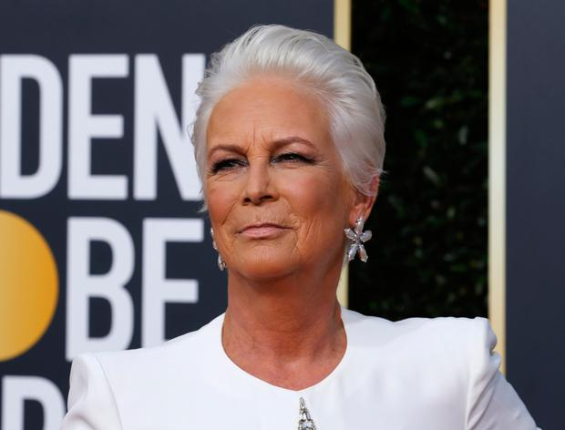 Jamie Lee Curtis was not amused by Fiji Water Girl. Photo: Reuters