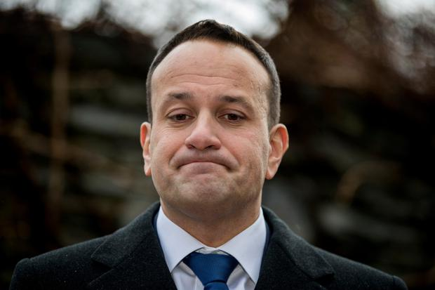 Leo Varadkar met with Theresa May. Photo: PA
