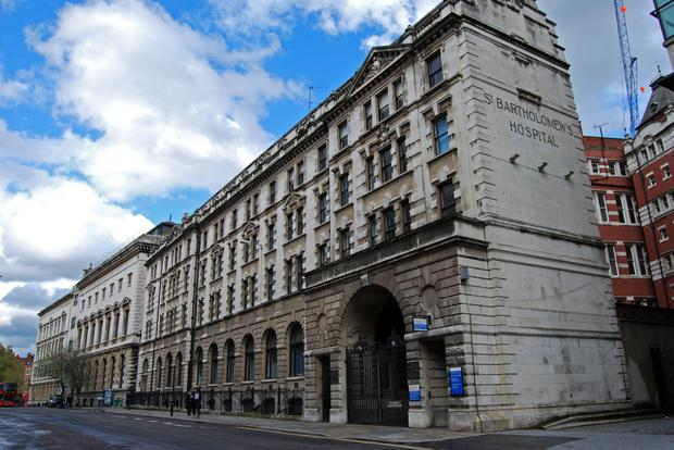 Colin Joyce sent threats to St Bartholomew's Hospital in London (pictured) and referred to Osama Bin Laden